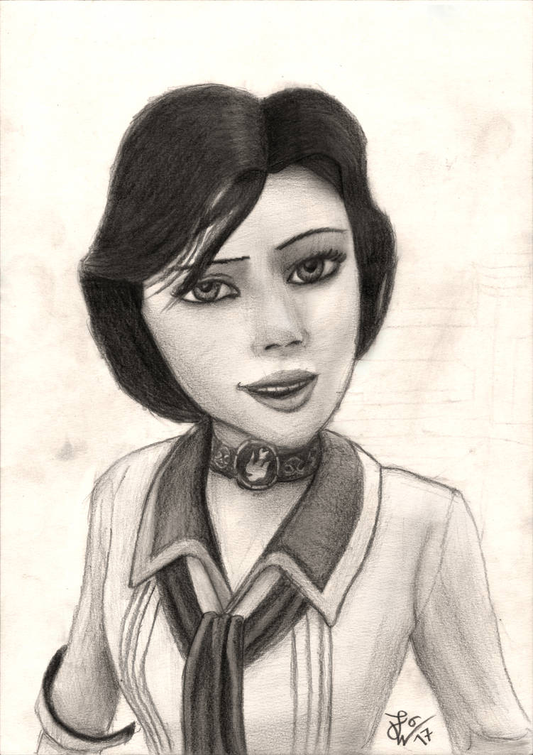 Bioshock elizabeth pencil drawing by thejulinator