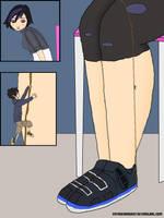 Hiro Climbing Gogo's Leg by VoyagerHawk87