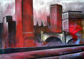 stained cityscape by tamino