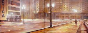City street at night by tamino