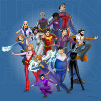 The Legion of Super-heroes by arunion