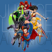 The Justice League of America by arunion