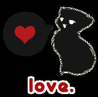 T-Shirt Contest: Love Kitteh by VandIChe