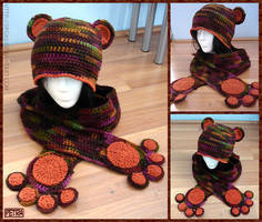 ::Bear Hat and Scarf:: by Petra0