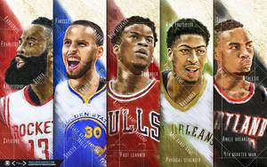 NBA Race For MVP Wallpaper by tmaclabi
