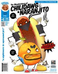 Chilidawg and Naranjito by pacman23