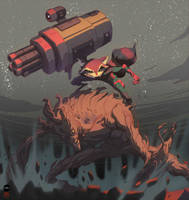 Rocket and Groot by pacman23