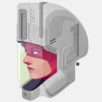 Astrogirl Sci-fi Helmet by pacman23