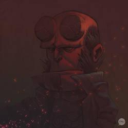 Hellboy sketch by pacman23