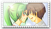 Keiichi x Mion Stamp by Jeyerre