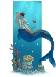 Comm: Mermaid Otter and Her Mate by Jeyerre