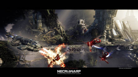 Necrowarp - Arcade Game Art Project - Image 03 by MadMaximus83