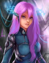 Sci-fi girl by ShuriCat