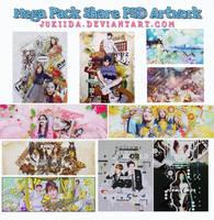 070916.MegaPackSharePSD Thanks for your support by JuKiiDA