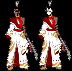 [trade] swordwoman by theaschebloodprince