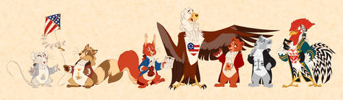 America's Founding Fuzzy Wuzzies by ThisCrispyKat