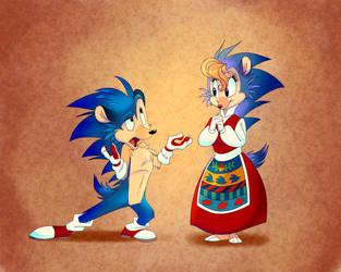 Sonic's Mom Dresses Like A Babushka by ThisCrispyKat