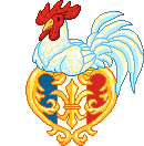 French Heart With Gallic Rooster by ThisCrispyKat
