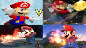 Mario Evolution in Super Smash Bros. by NintendoFanDj