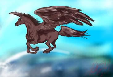 Pegasus in a good mood by Norbert2009