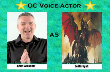 Keith Wickham as Destoroyah by menslady125