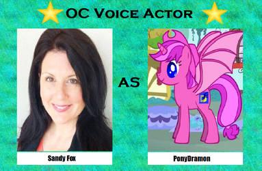 Sandy Fox as Ponydramon by menslady125