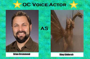 Brian Drummond as King Ghidorah by menslady125