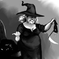Nanny Ogg vs. The Death of Rats by Alda-Rana
