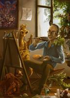 Homage to Paul Kidby by Alda-Rana