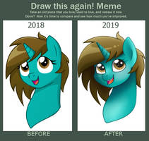 Before and After Meme: Lady Wulff by MObubbles