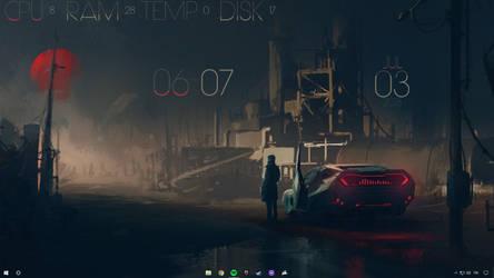 Blader Runner Desktop Customization by peterpicture94