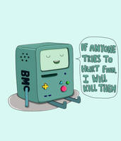 Don't mess with BMO by Nakiimushi