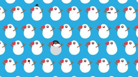 Munia Snowball by RichardTW