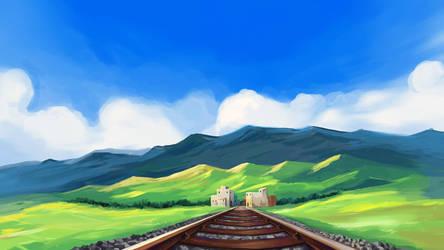 Railway Lane Background by RichardTW