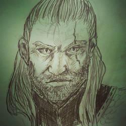 Geralt Portrait Study by LaChasseresse