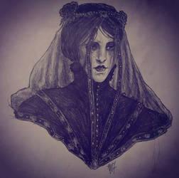 Iris Von Everec Portrait Study by LaChasseresse