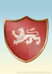 DSA: Coat of Arms - Ritterorden Weisse Loewen by miss-hena