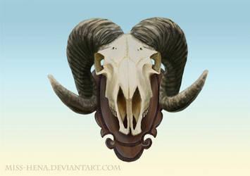 DSA: Ram Skull by miss-hena