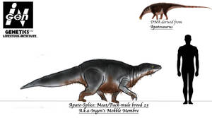 JURASSIC MONTH- Ingens Mokele Mbembe by Taliesaurus