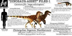 Dinosaur asset files- the Nublar-Raptor by Taliesaurus