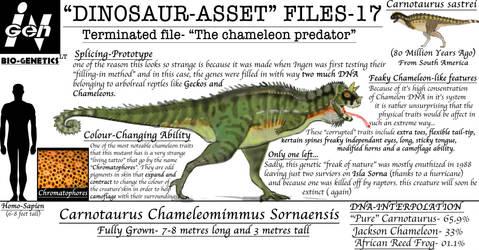 DINOSAUR ASSET FILES-CARNOTAUR VARIANT-1 by Taliesaurus