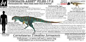 DINOSAUR ASSET FILES-CARNOTAUR VARIANT 2 by Taliesaurus