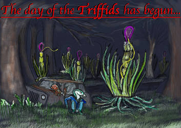 HALLOWEEN POSTERS (2018) 12: DAY OF THE TRIFFIDS by Taliesaurus