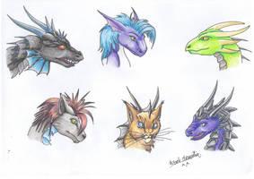 Dragon Heads III by RaikaDeLaNoche