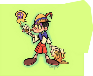 Pinocchio being a bad boi by SupCapn