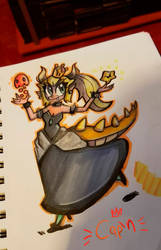 Bowsette in markers by SupCapn