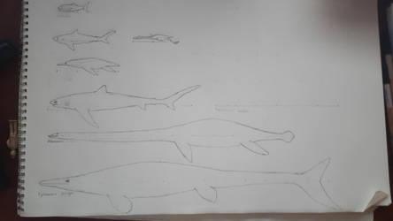 Niobraran marine fauna (updated) by Braindroppings1