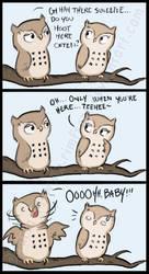 Comic - Owl Flirt by Rimfrost