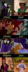 Disney Villain Virtues and Princess Sins by stachan