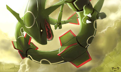 Pokemon: Rayquaza by mark331